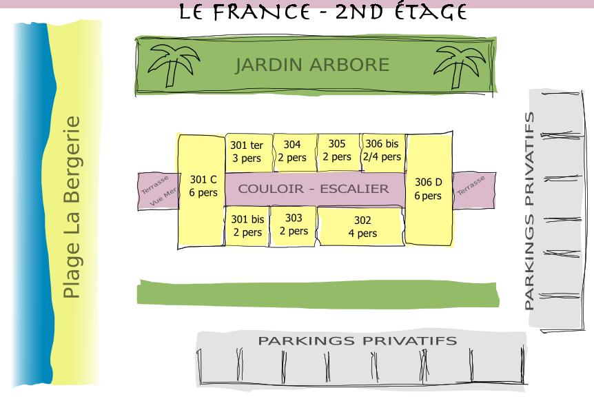 Residence Le France - Plan 2nd Etage