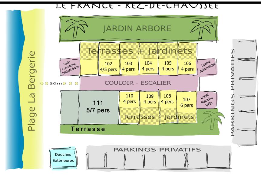 Residence Le France - Plan rdc Etage